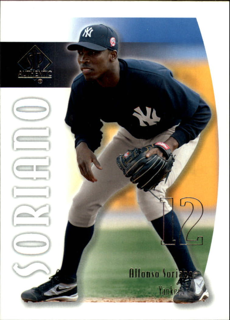 2002 SP Authentic #42 Alfonso Soriano