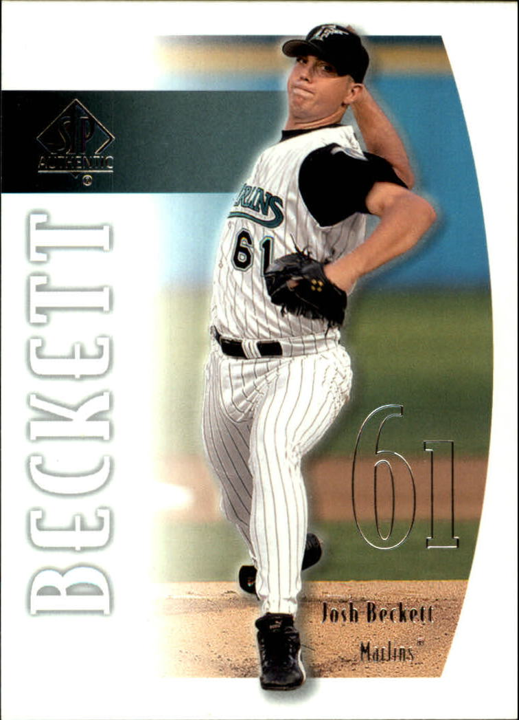 2002 SP Authentic #72 Josh Beckett