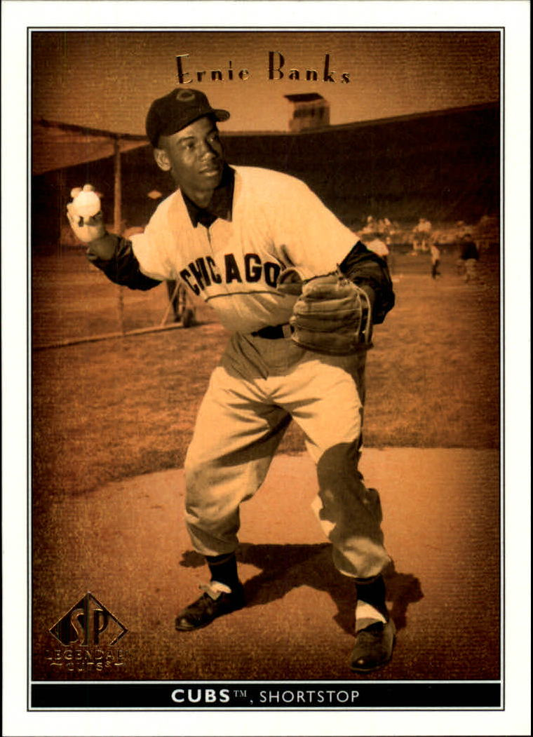 2002 SP Legendary Cuts #5 Ernie Banks front image