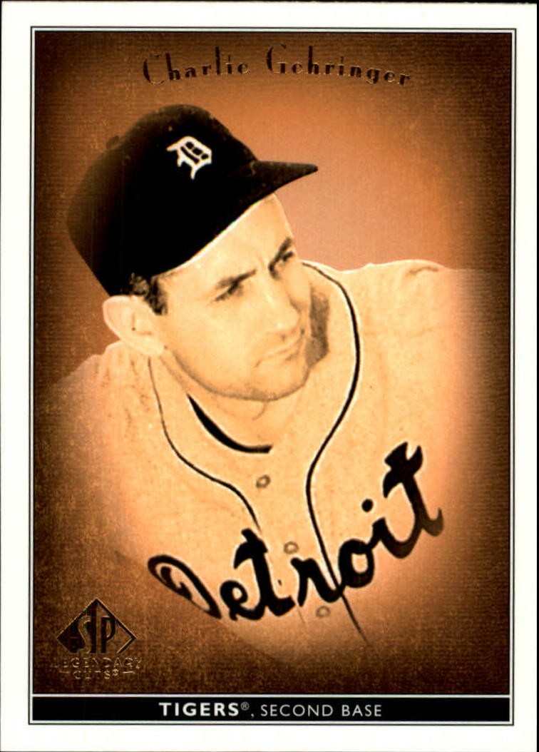 2002 SP Legendary Cuts #11 Charlie Gehringer