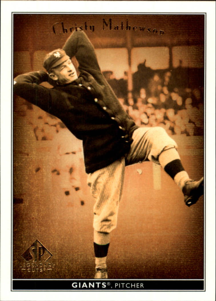 2002 SP Legendary Cuts #12 Christy Mathewson