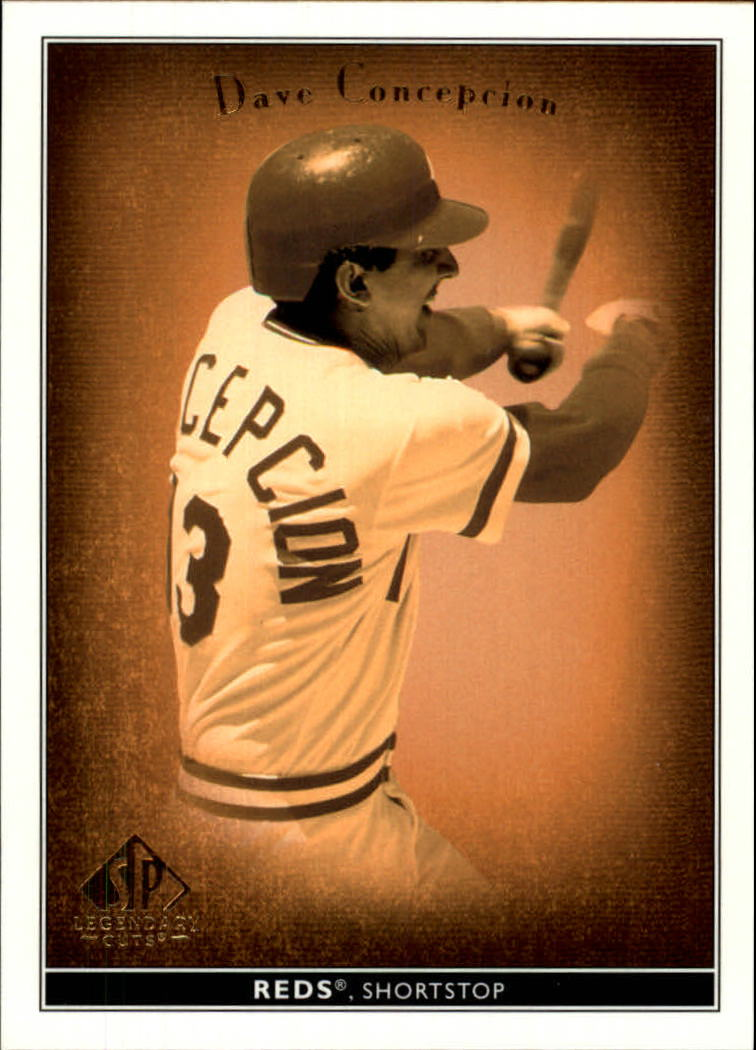 2002 SP Legendary Cuts #14 Dave Concepcion