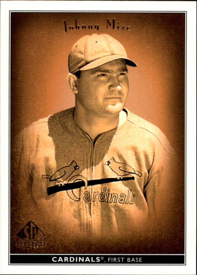2002 SP Legendary Cuts #43 Johnny Mize