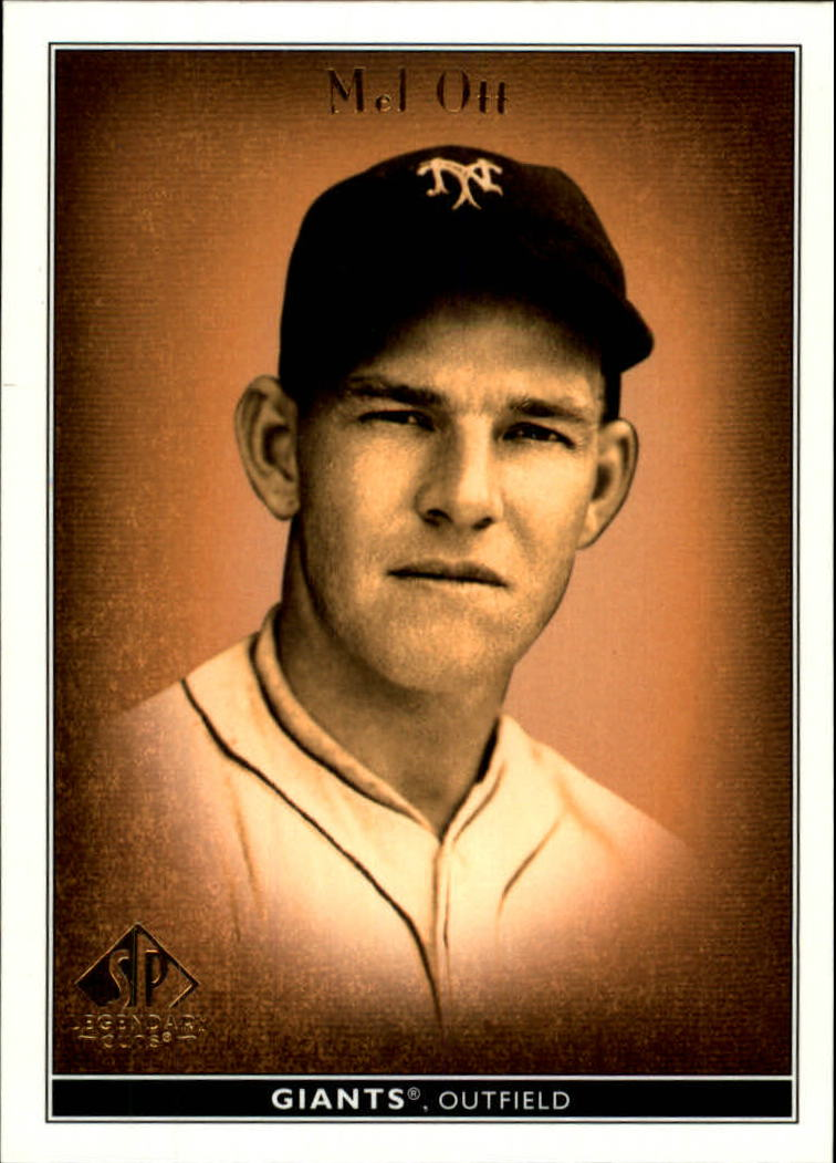 2002 SP Legendary Cuts #51 Mel Ott