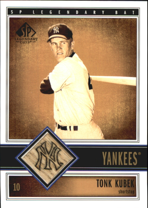2002 SP Legendary Cuts Game Bat #BTKU Tony Kubek