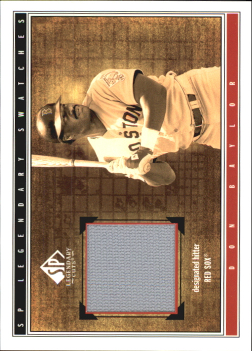 2002 SP Legendary Cuts Game Swatches #SDBA Don Baylor