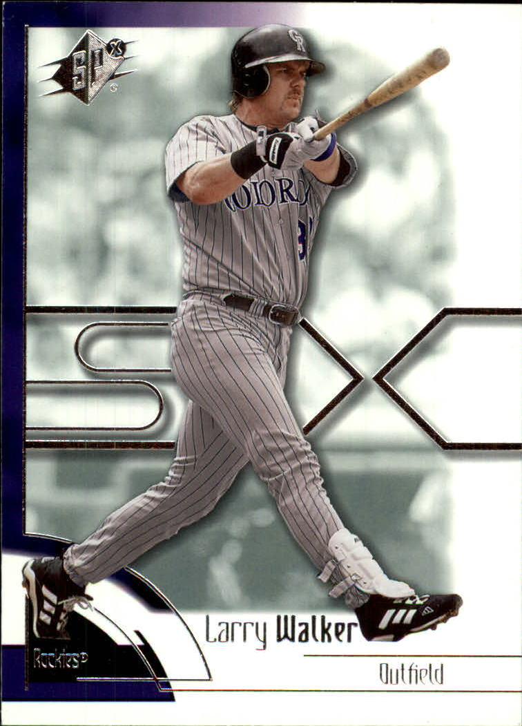 2002 SPx #89 Larry Walker