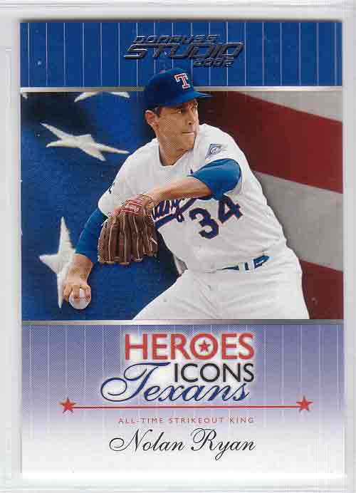 2002 Studio Heroes Icons Texans #HIT2 Nolan Ryan