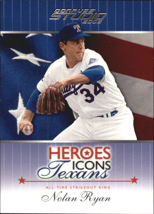 2002 Studio Heroes Icons Texans #HIT2 Nolan Ryan/500