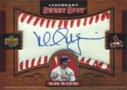 2002 Sweet Spot Legendary Signatures #MM Mark McGwire/90 *