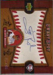 2002 Sweet Spot Signatures #SR Scott Rolen/291