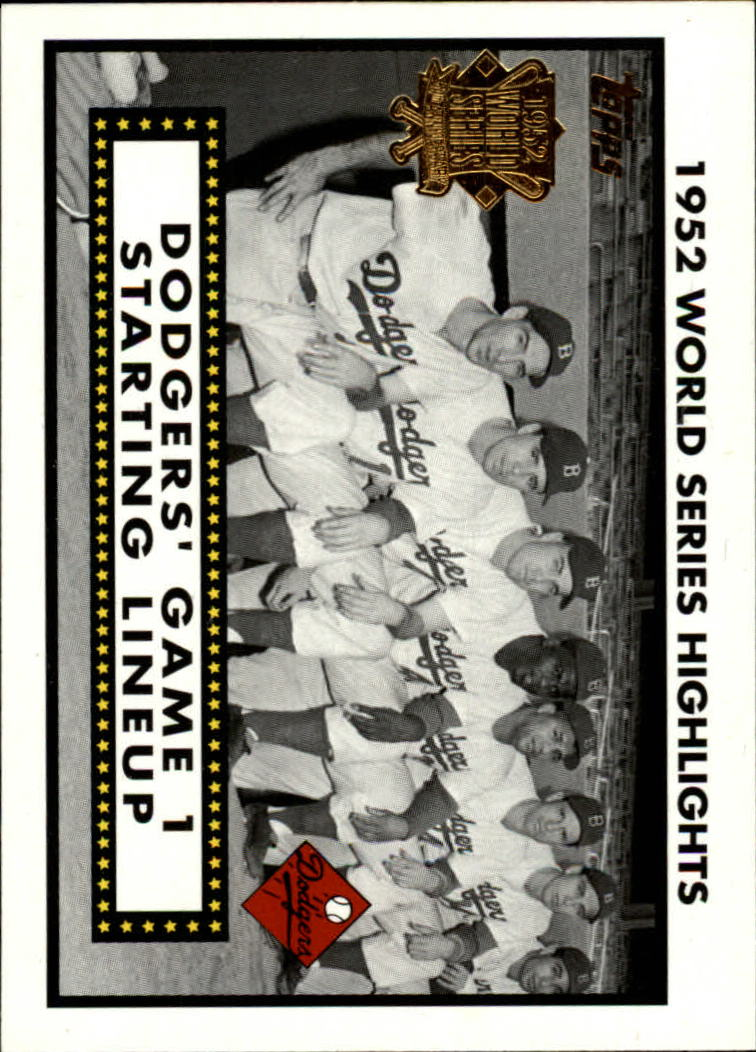 2002 Topps 1952 World Series Highlights #52WS1 Dodgers Line Up 1