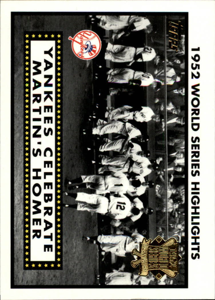 2002 Topps 1952 World Series Highlights #52WS2 Billy Martin's Homer 2 front image