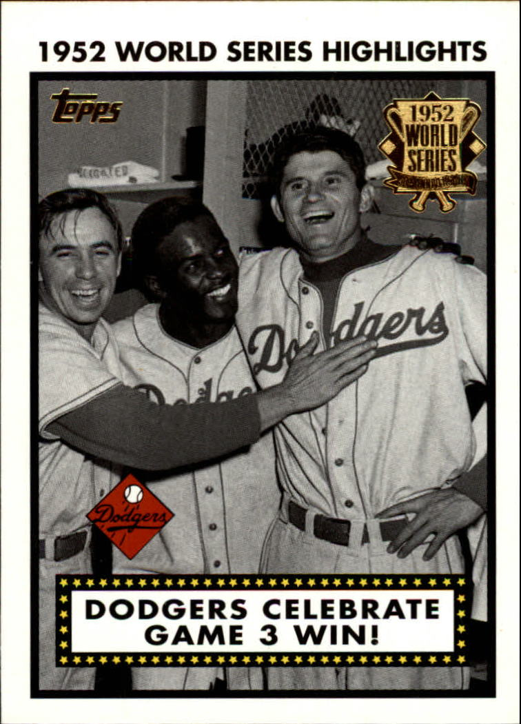 2002 Topps 1952 World Series Highlights #52WS3 Dodgers Celebrate 1