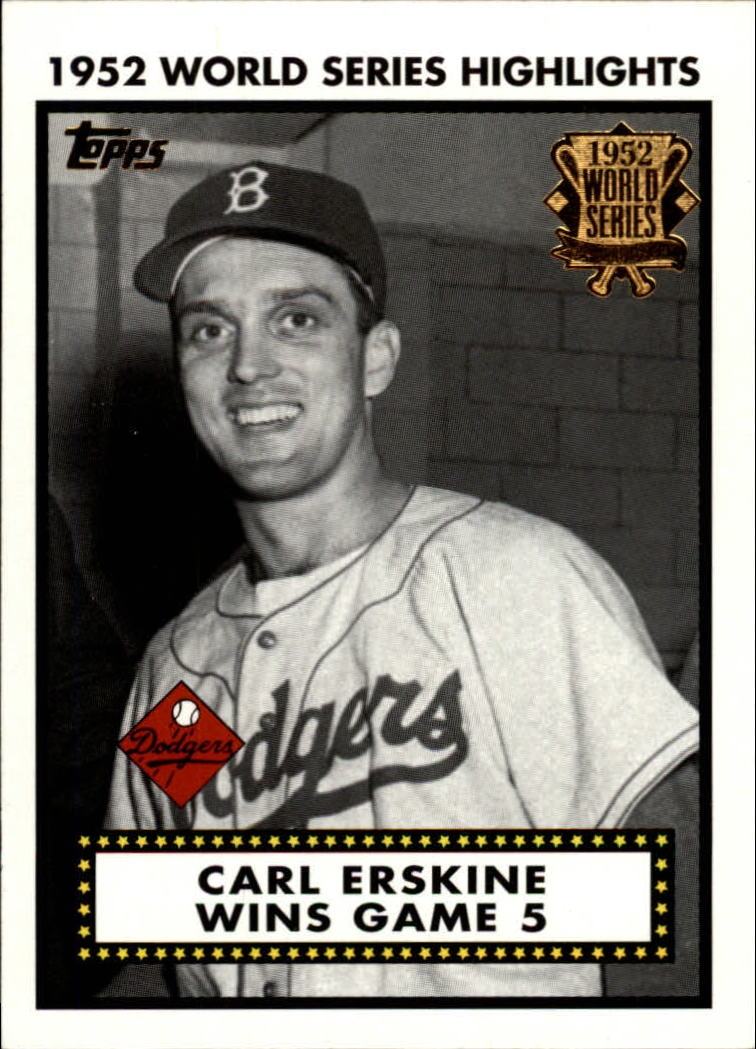 2002 Topps 1952 World Series Highlights #52WS5 Carl Erskine 1 front image
