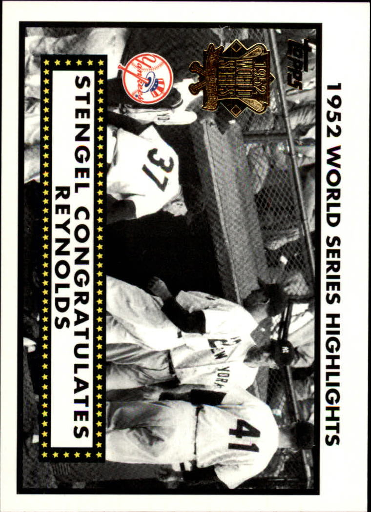 2002 Topps 1952 World Series Highlights #52WS6 Stengel/Reynolds 2