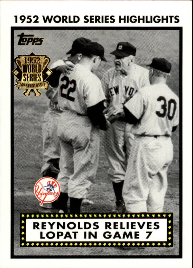 2002 Topps 1952 World Series Highlights #52WS7 Reynolds Relieves 2 front image