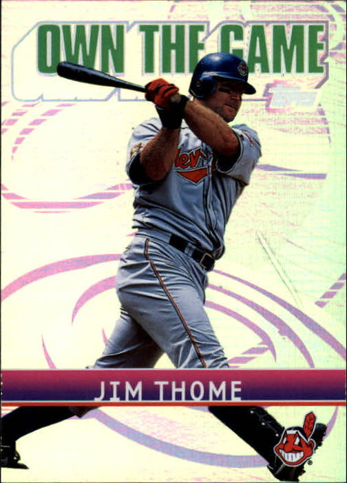 2002 Topps Own the Game #OG18 Jim Thome