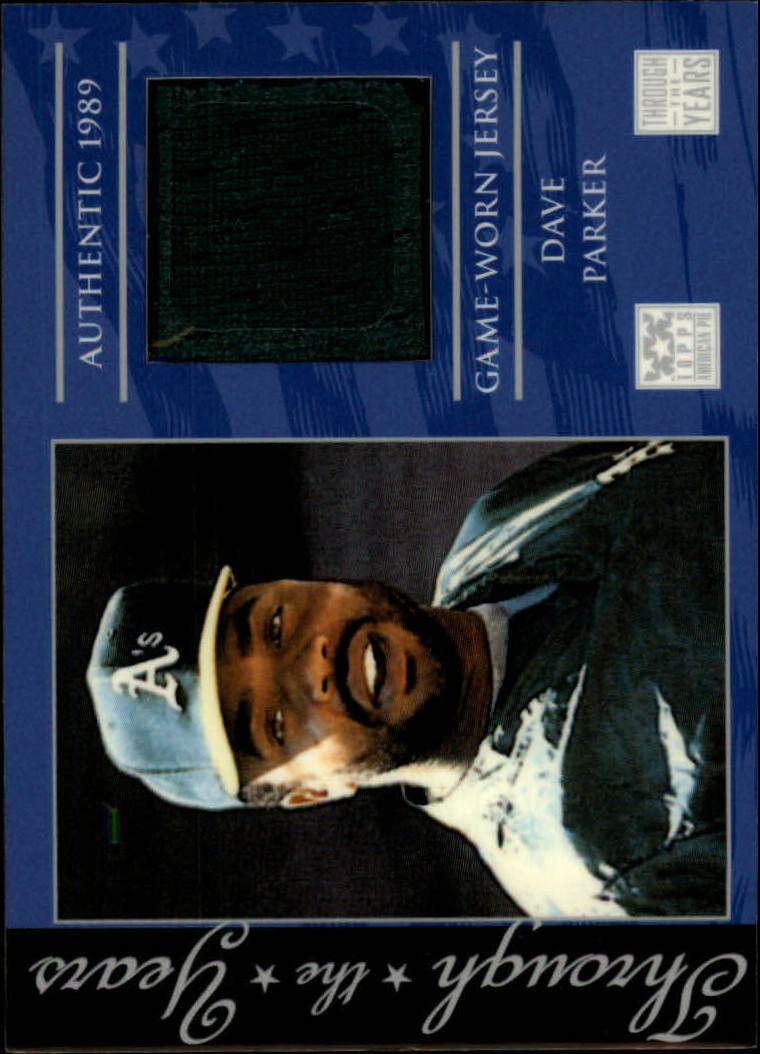 2002 Topps American Pie Through the Year Relics #DP Dave Parker Jsy