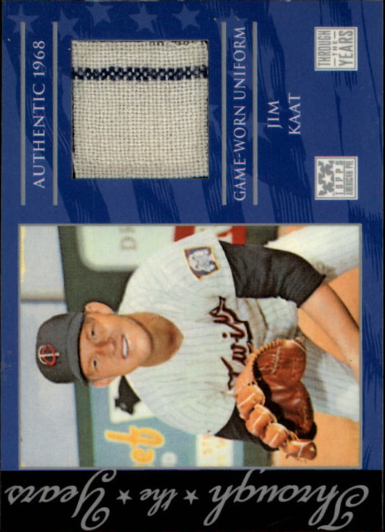 2002 Topps American Pie Through the Year Relics #JK Jim Kaat Uniform