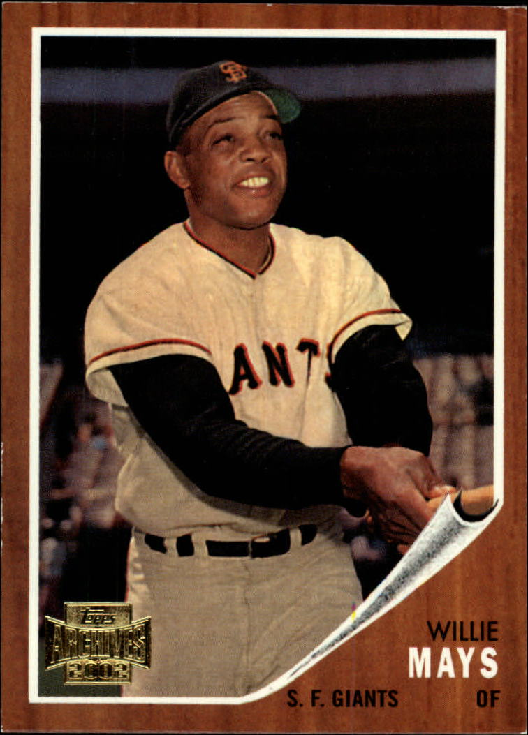 2002 Topps Archives #1 Willie Mays 62 front image