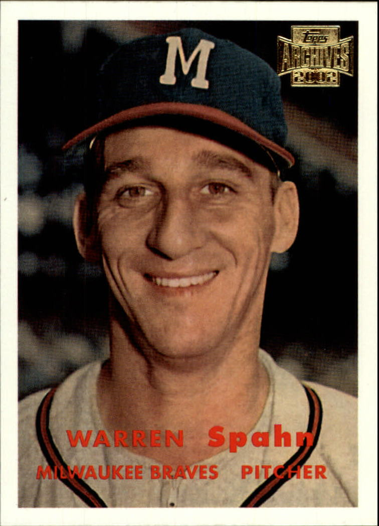 2002 Topps Archives #9 Warren Spahn 57