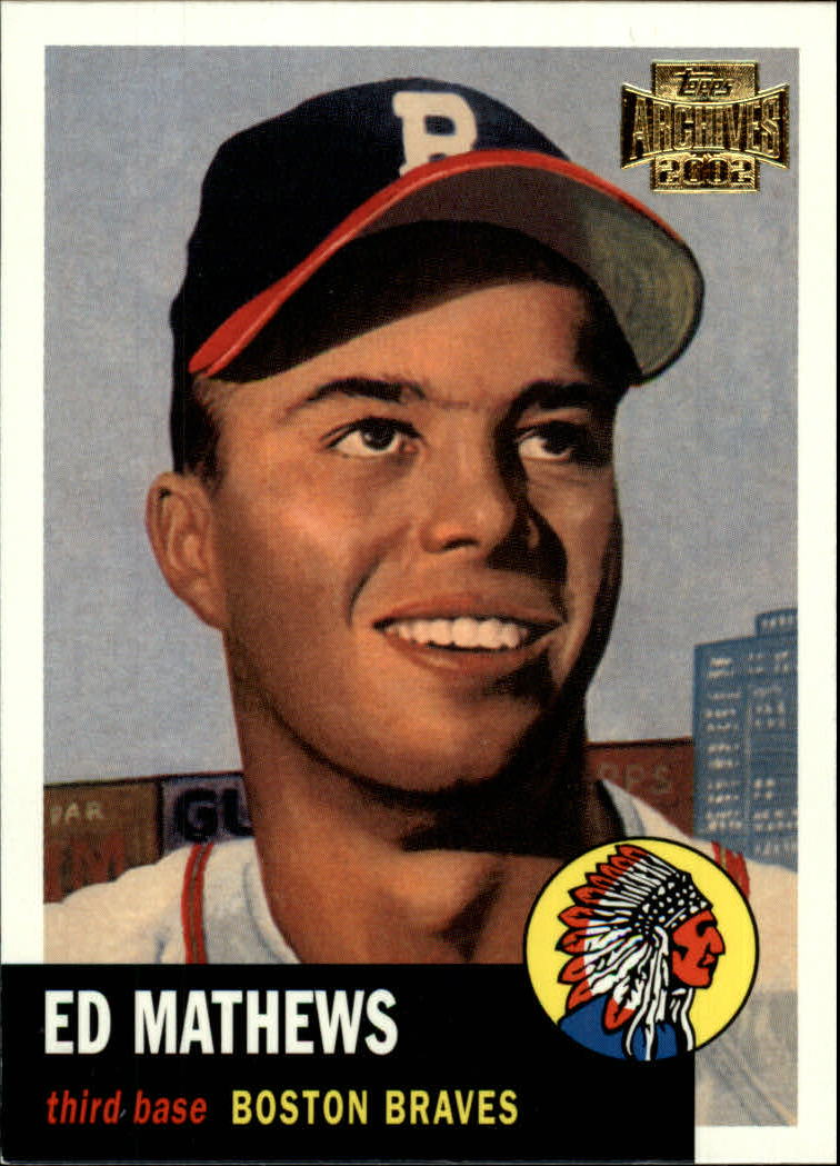 2002 Topps Archives #120 Eddie Mathews 53