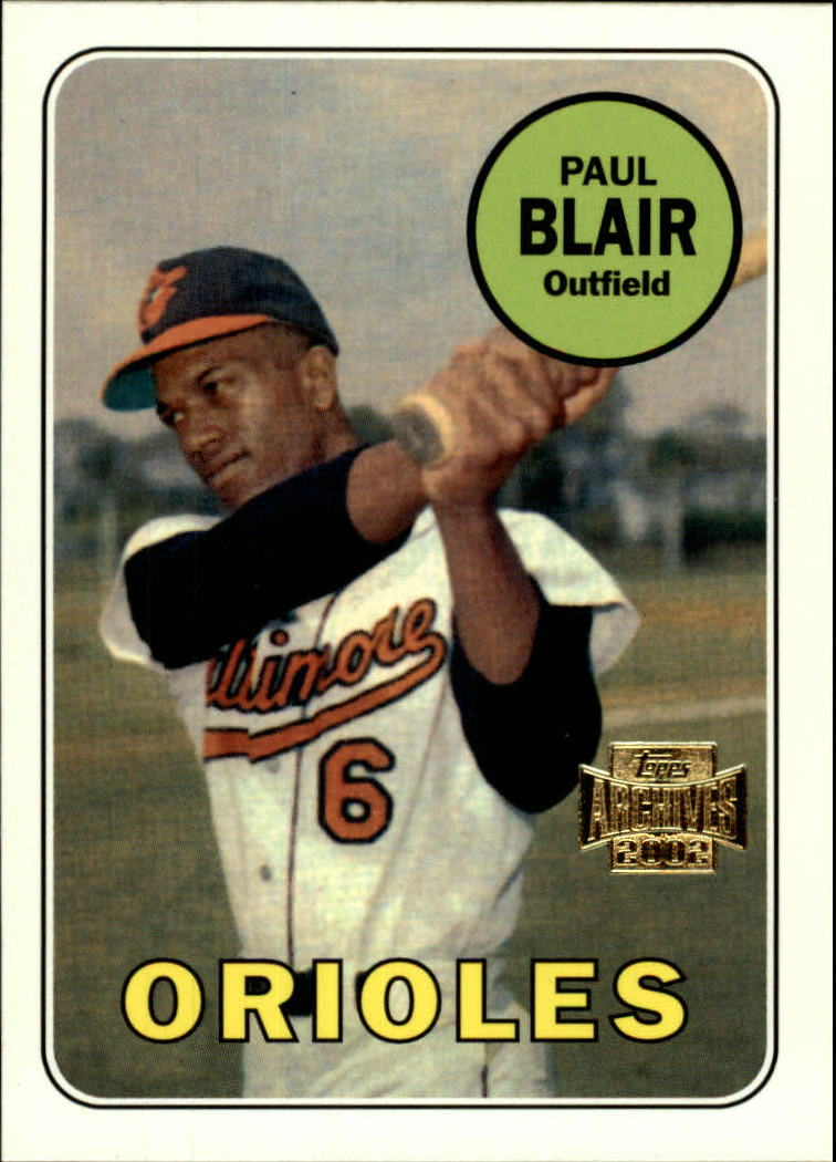 2002 Topps Archives #137 Paul Blair 69 front image