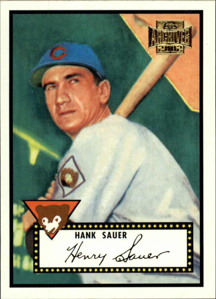 2002 Topps Archives #143 Hank Sauer 52