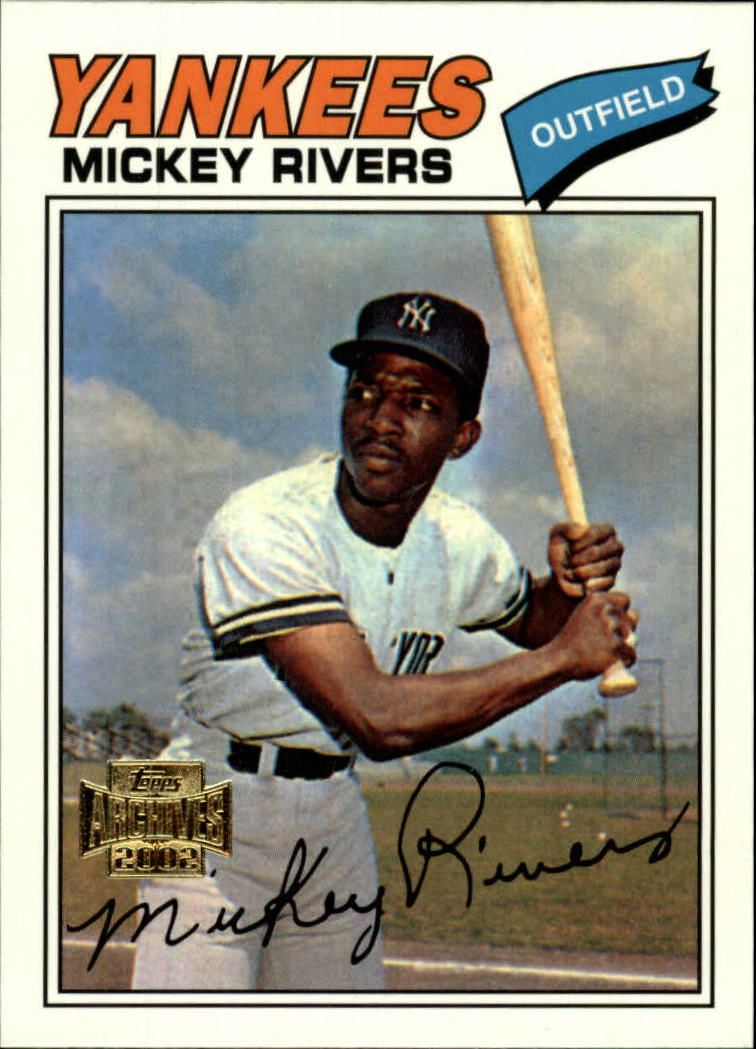 2002 Topps Archives #170 Mickey Rivers 77