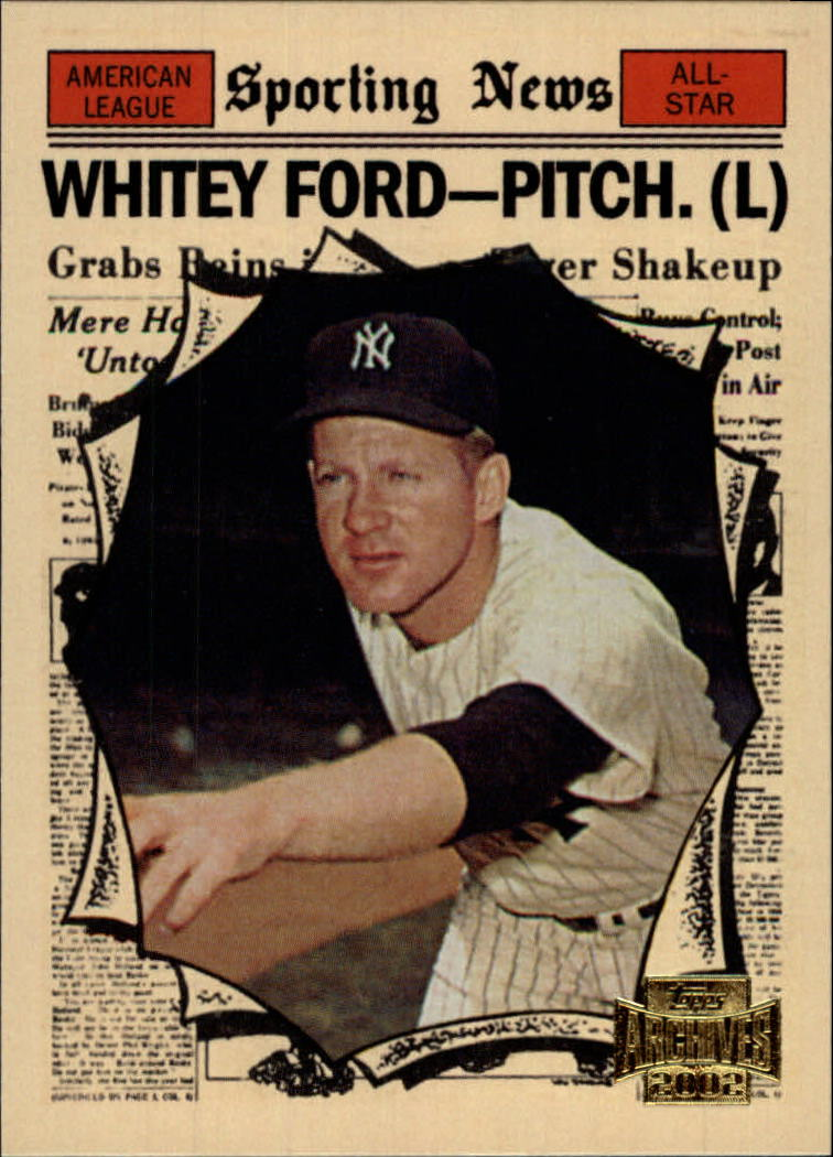2002 Topps Archives #187 Whitey Ford 61 AS front image