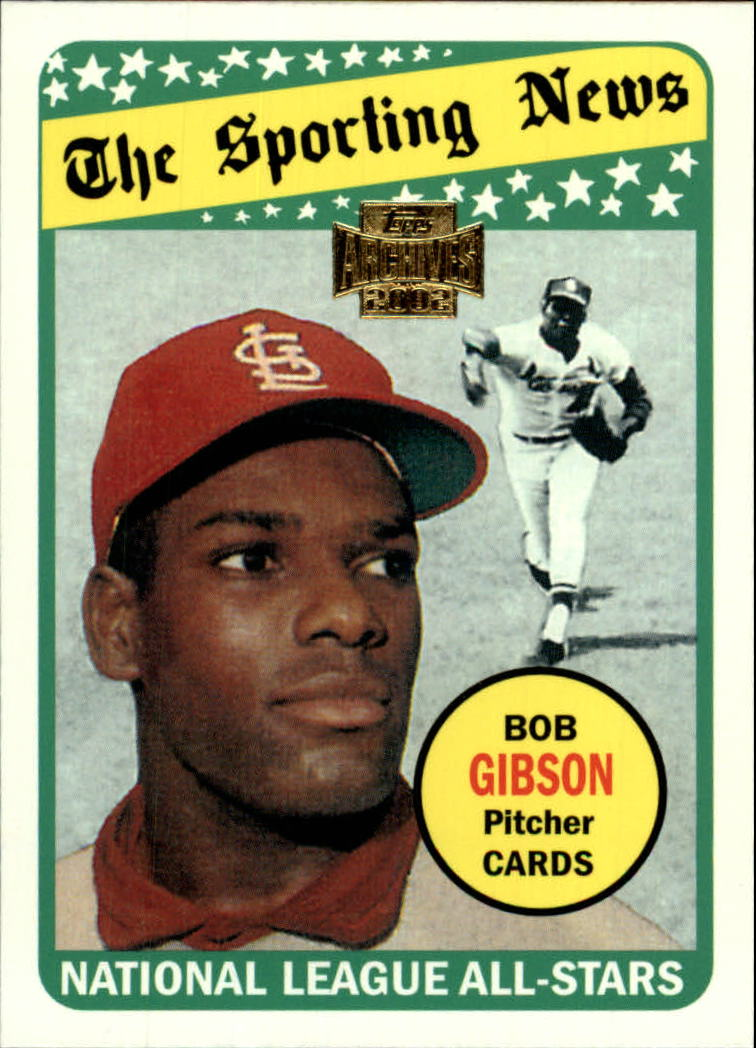 2002 Topps Archives #188 Bob Gibson 69 AS front image