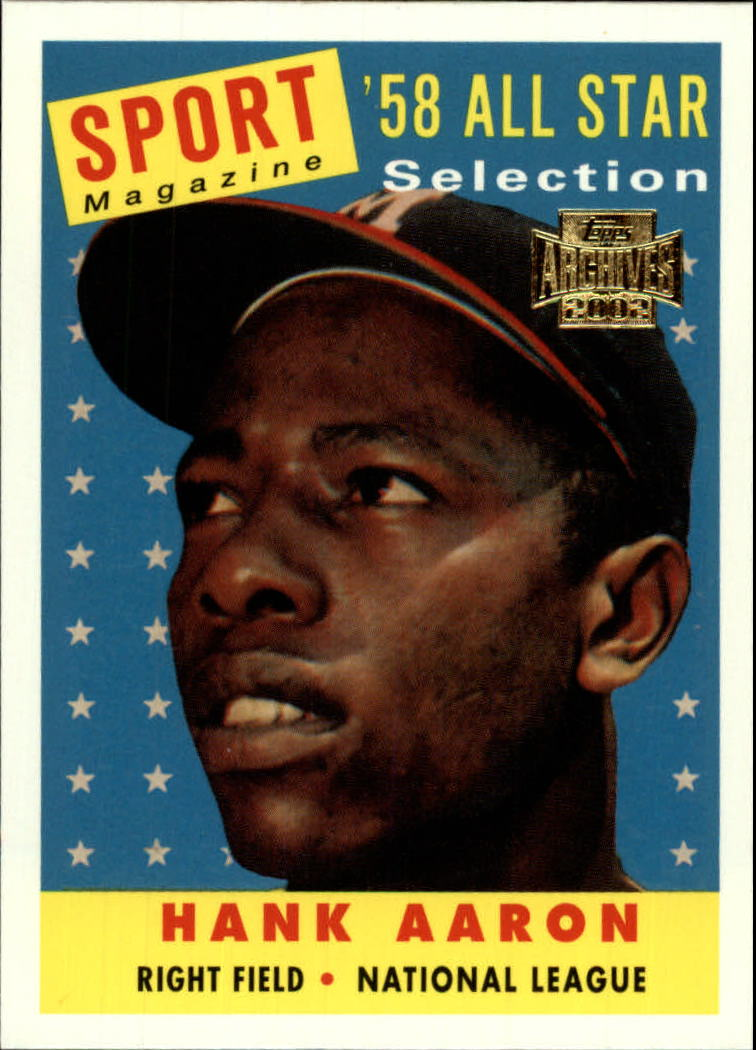 2002 Topps Archives #190 Hank Aaron 58 AS front image