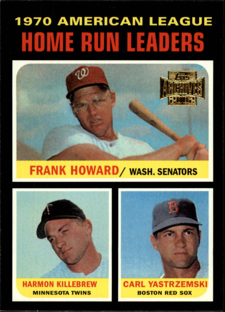 2002 Topps Archives #191 1971 AL Home Run Ldrs