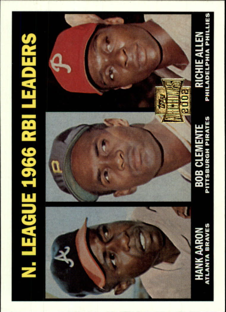 2002 Topps Archives #193 1967 NL RBI Ldrs