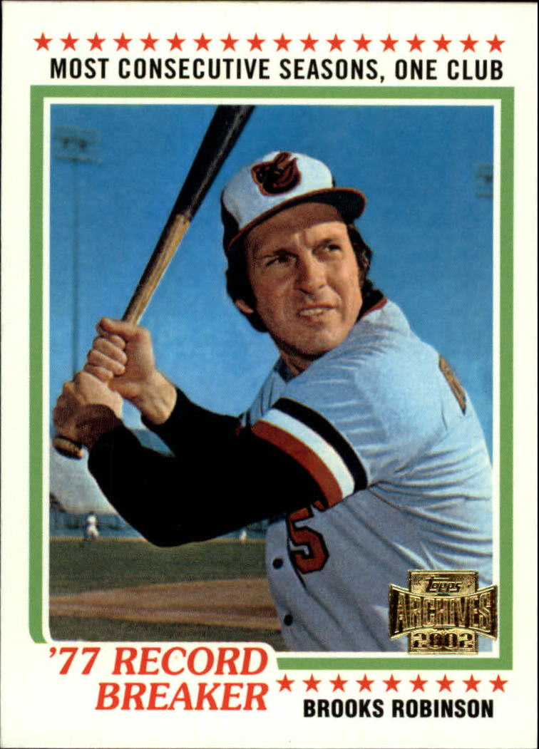 2002 Topps Archives #197 Brooks Robinson 78 HL