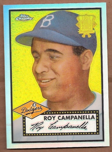 2002 Topps Chrome 1952 Reprints Refractors #52R1 Roy Campanella front image