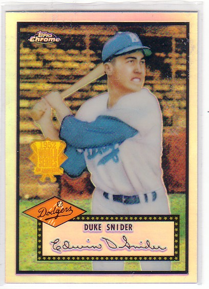2002 Topps Chrome 1952 Reprints Refractors #52R2 Duke Snider