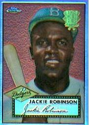 2002 Topps Chrome 1952 Reprints Refractors #52R10 Jackie Robinson