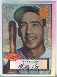 2002 Topps Chrome 1952 Reprints Refractors #52R13 Billy Cox front image