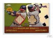 2002 Topps Chrome 5-Card Stud Deuces are Wild Relics #5DCA Chipper Jones Bat/Andruw Jones Bat