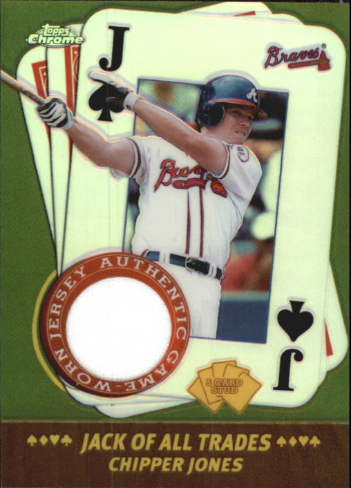 2002 Topps Chrome 5-Card Stud Jack of all Trades Relics #5JCJ Chipper Jones Jsy