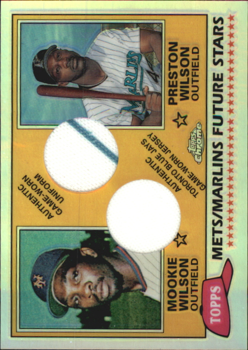 2002 Topps Chrome Summer School Like Father Like Son Relics #FSCWI Preston Wilson Uni/Mookie Wilson Jsy
