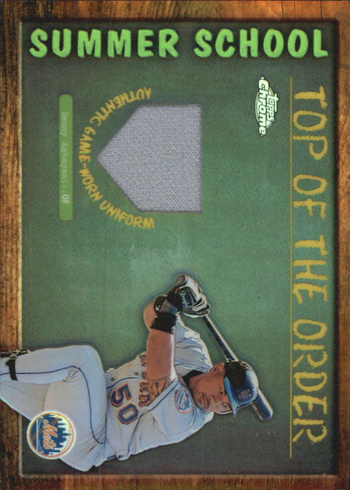 2002 Topps Chrome Summer School Top of the Order Relics #TOCBA Benny Agbayani Uni C