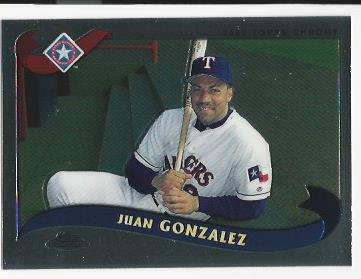 2002 Topps Chrome Traded #T50 Juan Gonzalez