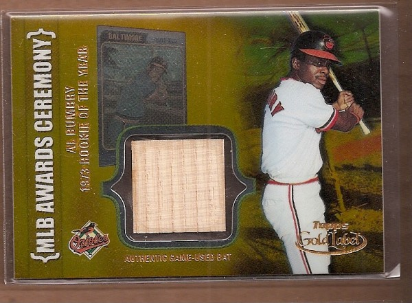 2002 Topps Gold Label MLB Awards Ceremony Relics Gold #AB Al Bumbry ROY Bat