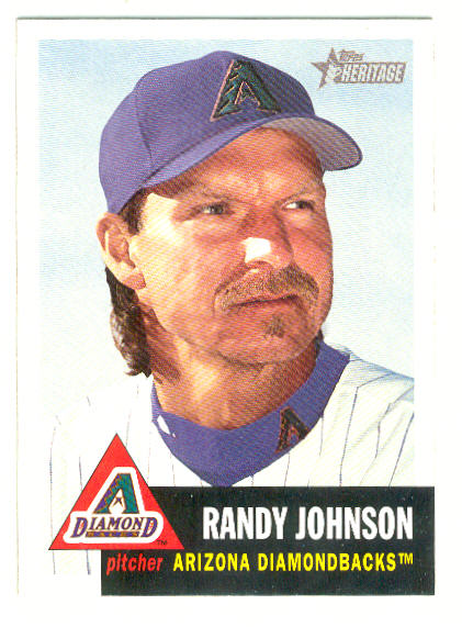 2002 Topps Heritage #10 Randy Johnson