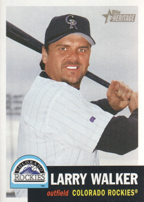 2002 Topps Heritage #19 Larry Walker