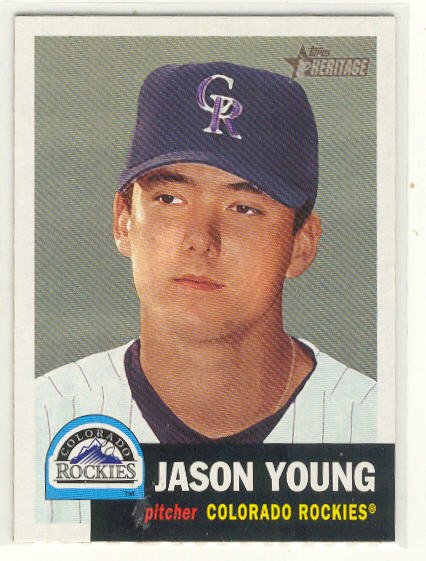 2002 Topps Heritage #79 Jason Young RC