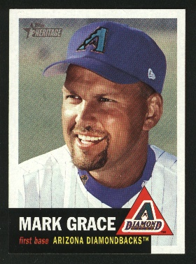 2002 Topps Heritage #136 Mark Grace